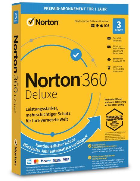 Norton 360 Deluxe 3 User / Geräte für 1 Jahr - ESD
